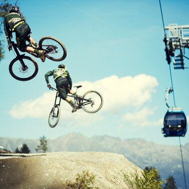 The Freeride Trail is a Bikeparktrail in the Bikepark Serfaus-Fiss-Ladis in Tyrol | © Serfaus-Fiss-Ladis