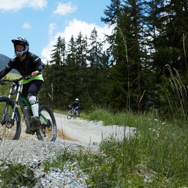 The Morning Glory is a Bikeparktrail in the Bikepark Serfaus-Fiss-Ladis in Tyrol | © Serfaus-Fiss-Ladis