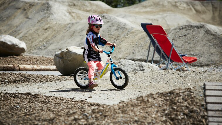 Even the youngest can have fun with the balance bike in the Serfaus-Fiss-Ladis bike park in Tyrol | © Serfaus-Fiss-Ladis
