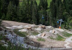 Slopestyle Parcours in the bikepark Serfaus-Fiss-Ladis in Tyrol Austria | © Serfaus-Fiss-Ladis